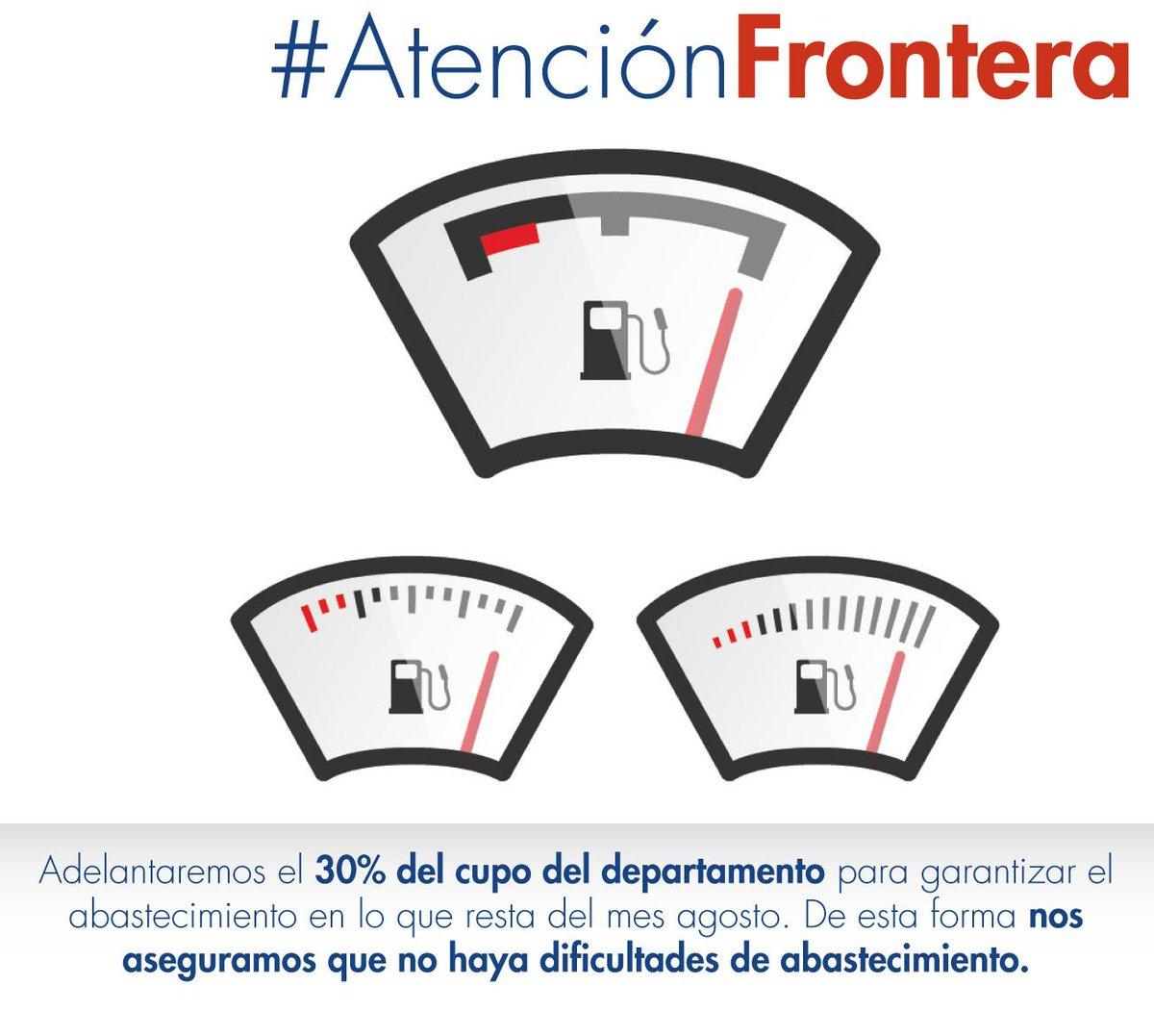 Se confirma adelanto de cupo del 30%. Con esto se supliría la demanda actual para el resto del mes #AtenciónFrontera http://t.co/InYJsMZm7I