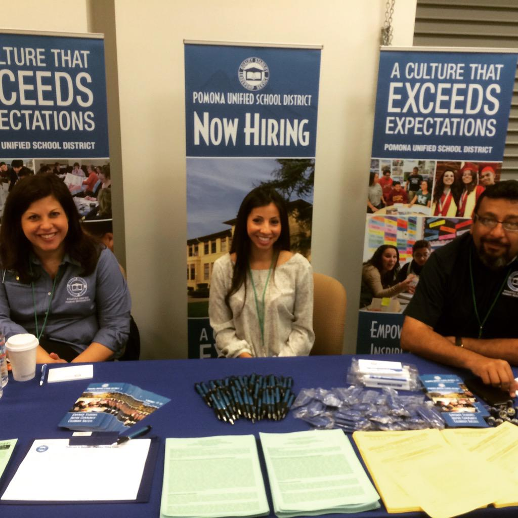 One of our many employers interviewing and hiring job candidates today! @PomonaUnified #gethired #CSS #careers