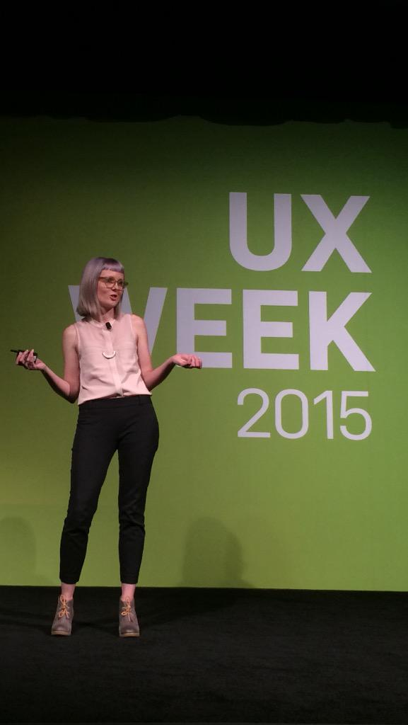 """Designers are the new therapists"" -@aisforayla #UXWeek15 http://t.co/GcCdydqI6v"