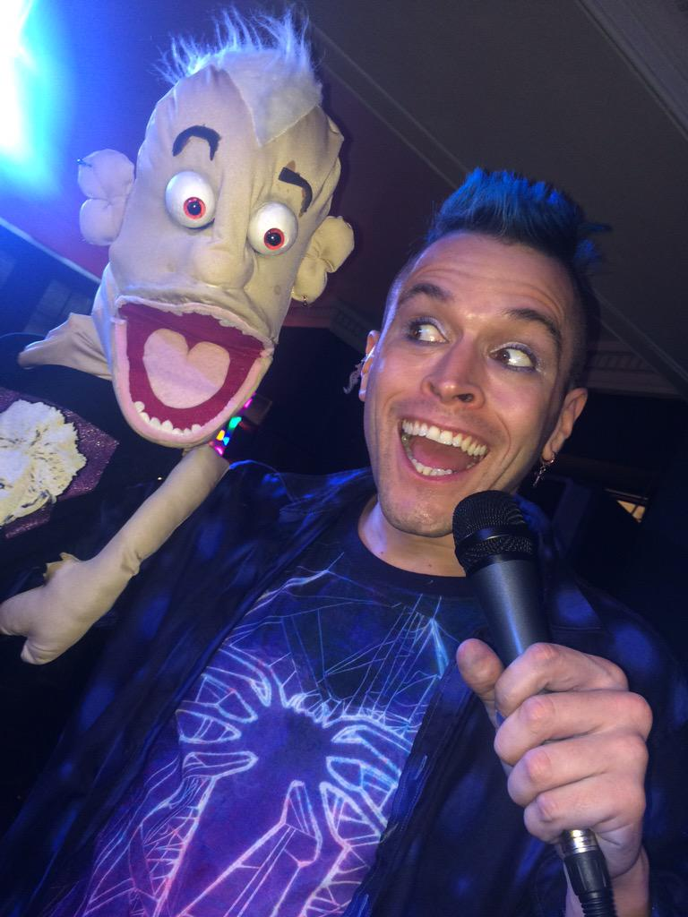 RT @CaperComedy: Pete and puppet Pete at the ready for tonight's show! @MrPeteBennett @NightingaleBN1 8.30pm http://t.co/GaRqVD1yiV http://…