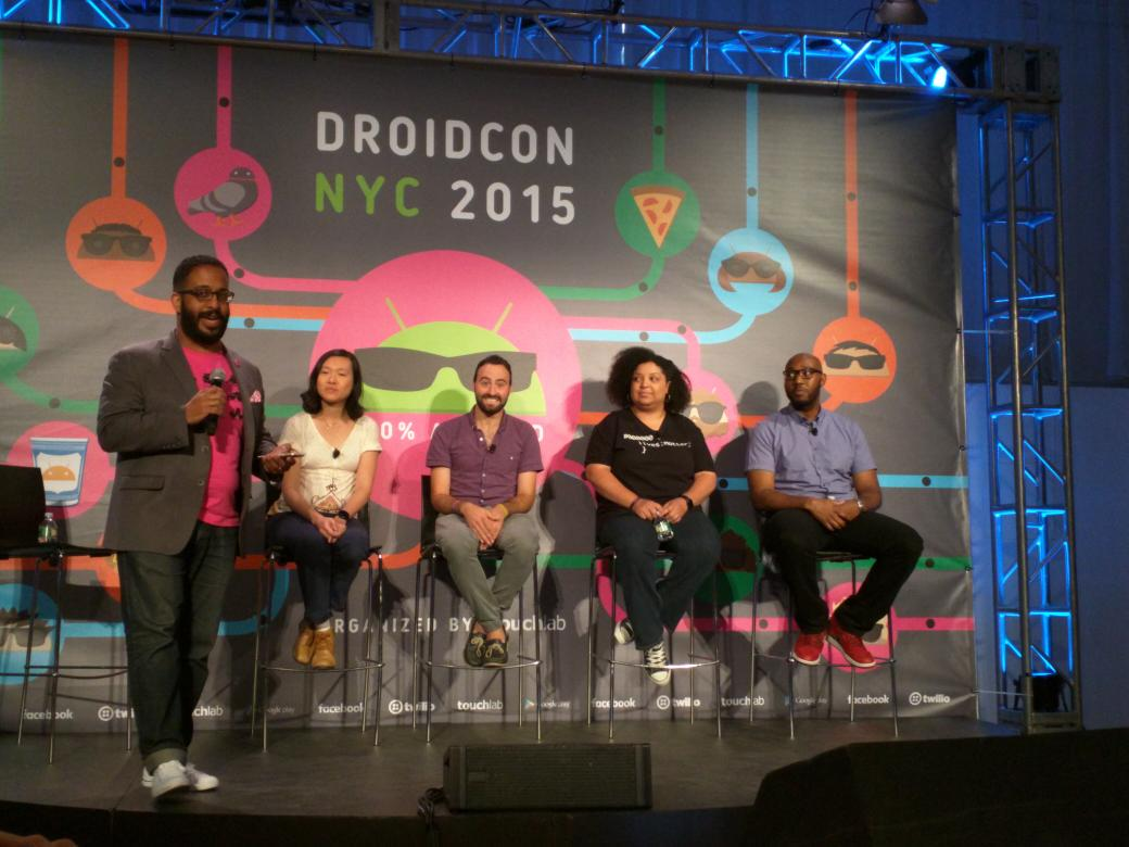 So happy there is a diversity panel at #DroidconNYC. Nice to see this being discussed in the Android community. http://t.co/SLHkRHDqDK