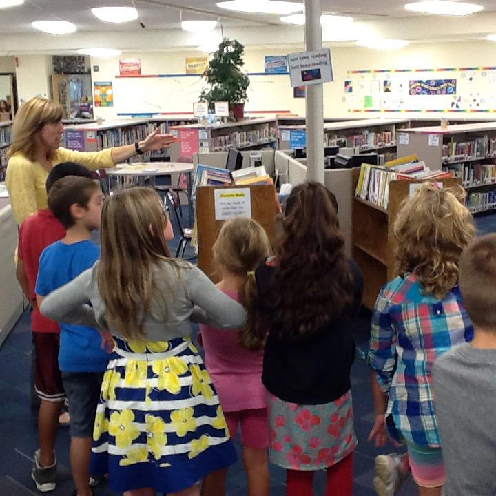 Anxious third graders awaiting their first book check-out! @lkacord #wdsd7 http://t.co/3fO7FfRxqC