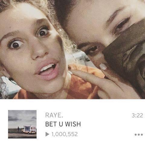 Congratubloodyations to @arayeofcolours, for Bet U Wish just hitting 1mil plays! #BetUWish http://t.co/ZOGClMQ7cf