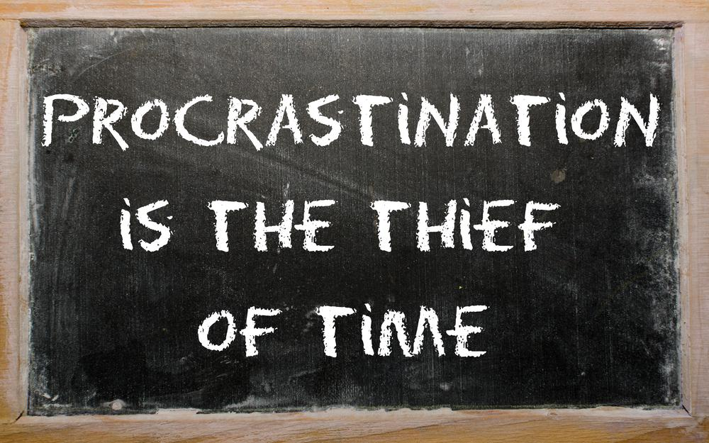 Just Do It. Leaders avoid procrastination. They don't have time to procrastinate; they only have time to execute. http://t.co/V03F0AOMIG