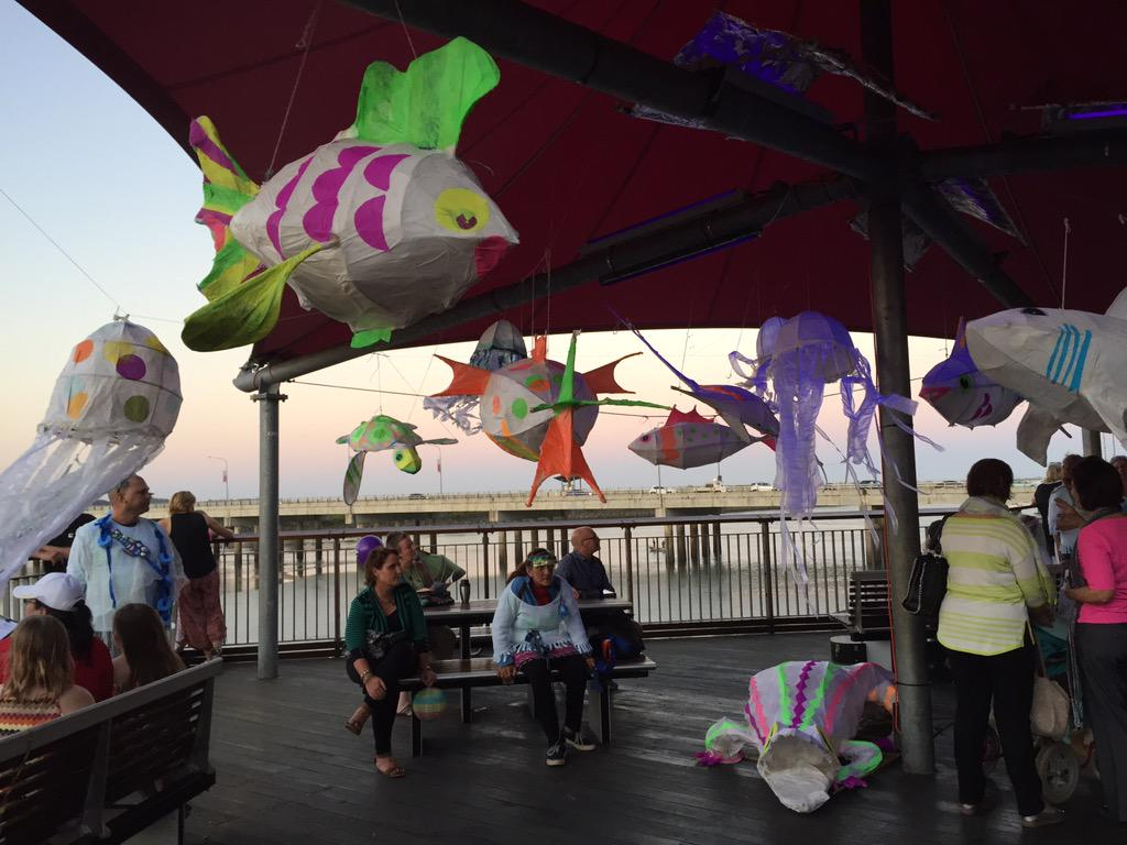 Under the sea lanterns as part of the UP River Lantern Parade #mackaycitycentre #twilightcity #mackaypride http://t.co/mVZZTku7OH