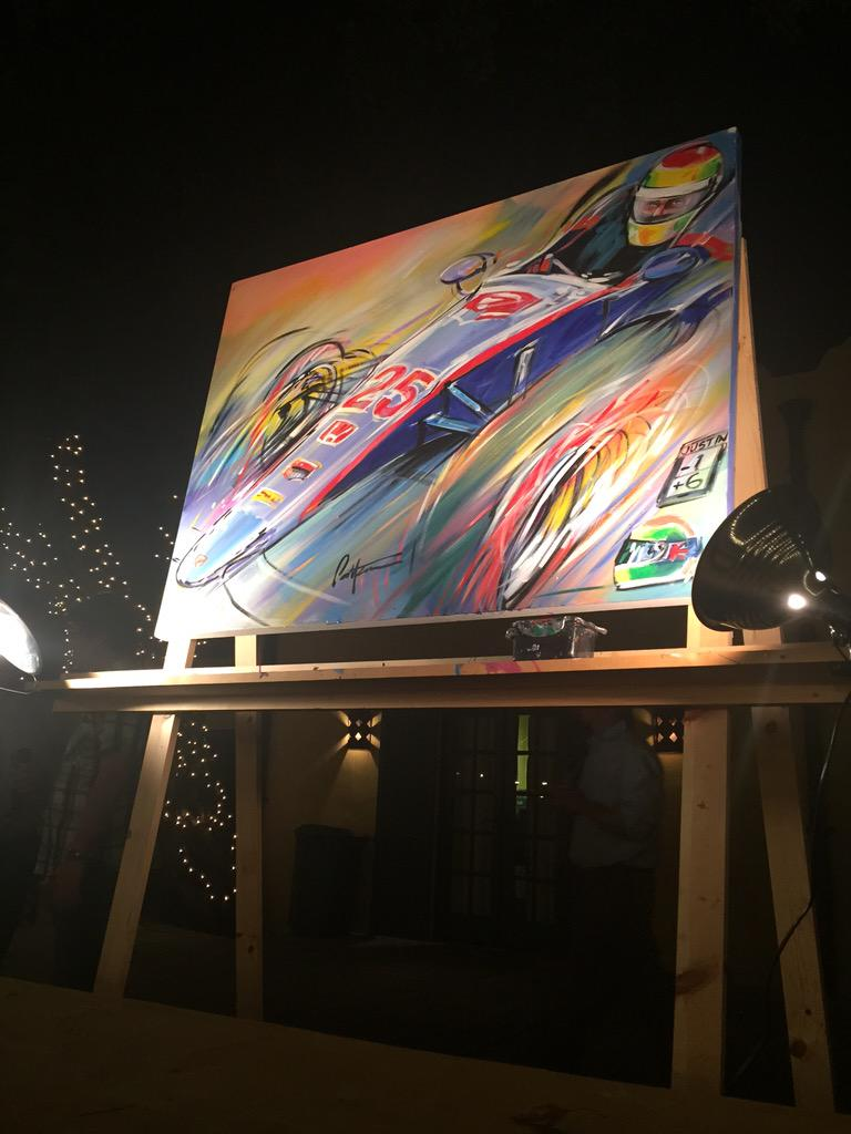 Beautiful painting of @justin_wilson painted by #BillPatterson at tonight's @TheYellowParty http://t.co/irSb6UDpPT