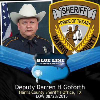 Deputy Darren Goforth killed by black while pumping gas