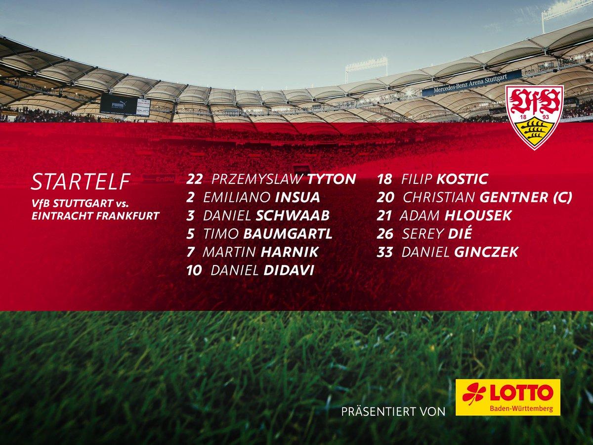 Comeback von #SereyDié. Unsere Startelf! #VfBSGE<br>http://pic.twitter.com/ofuXk8P3KY