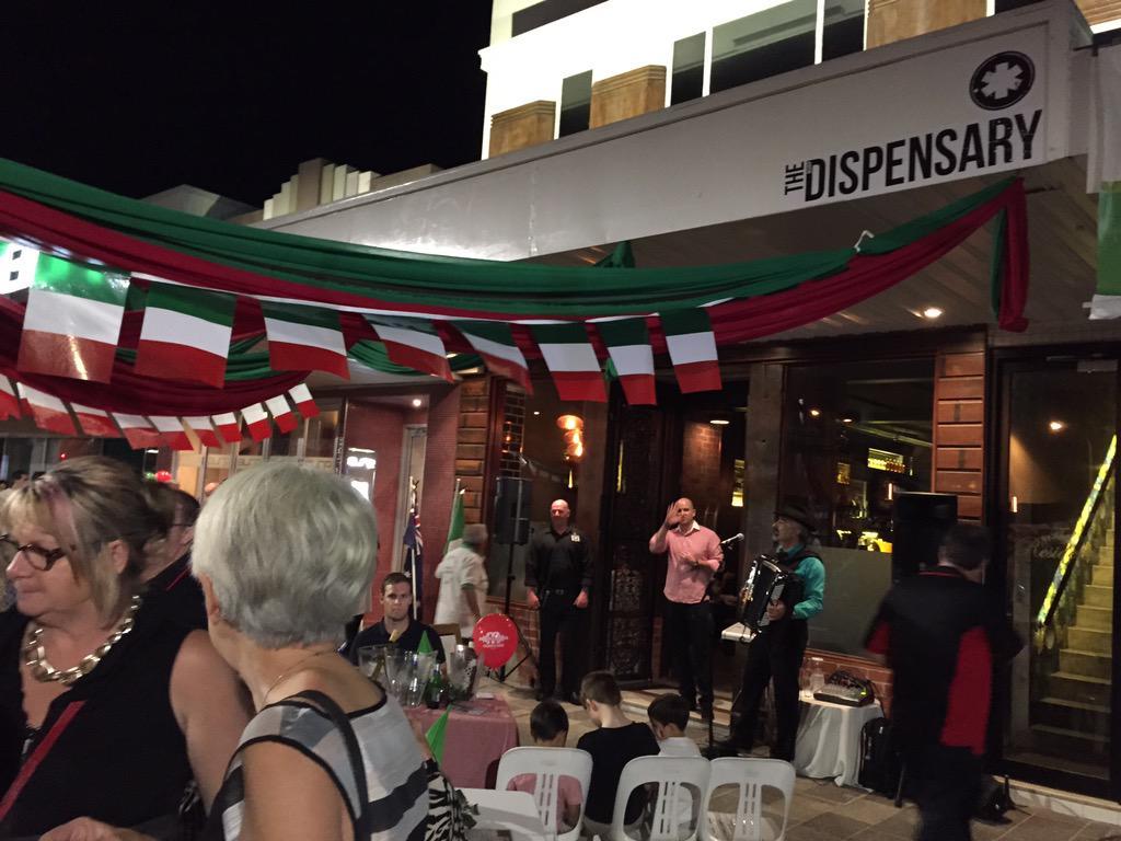 A taste of little Italy #twilightcity #mackaycitycentre #mackaypride #thedispensary http://t.co/XpIq3tzri4