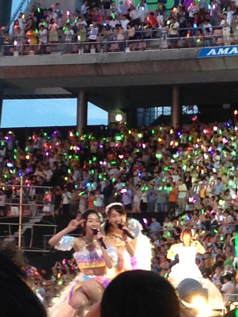 じゅりれな! #ske48 #豊田スタジアム http://t.co/j2evLj0zwH