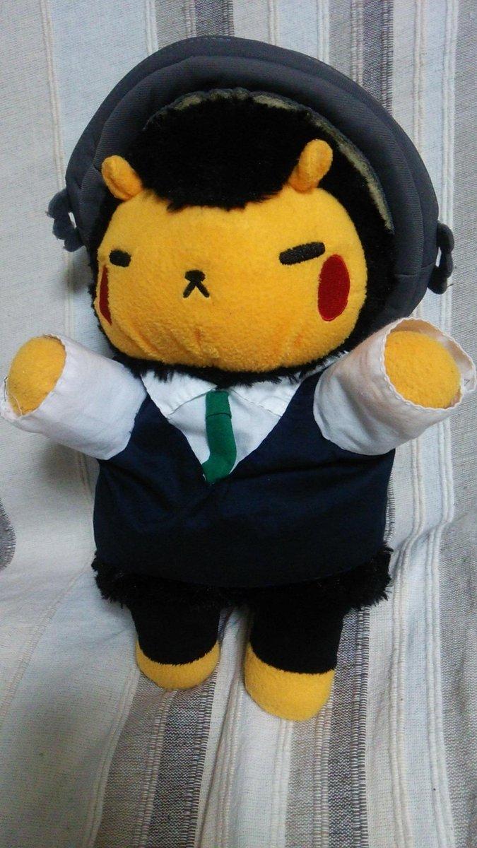@achakotya @jingisu_jin ジンくーん!ママしゃーん!ギスくんのお洋服作ってみました!ジンくんコーヒーのギスくん、のつもり☆今日ロフトに初めて着ていきました http://t.co/XTVvzXlv7u