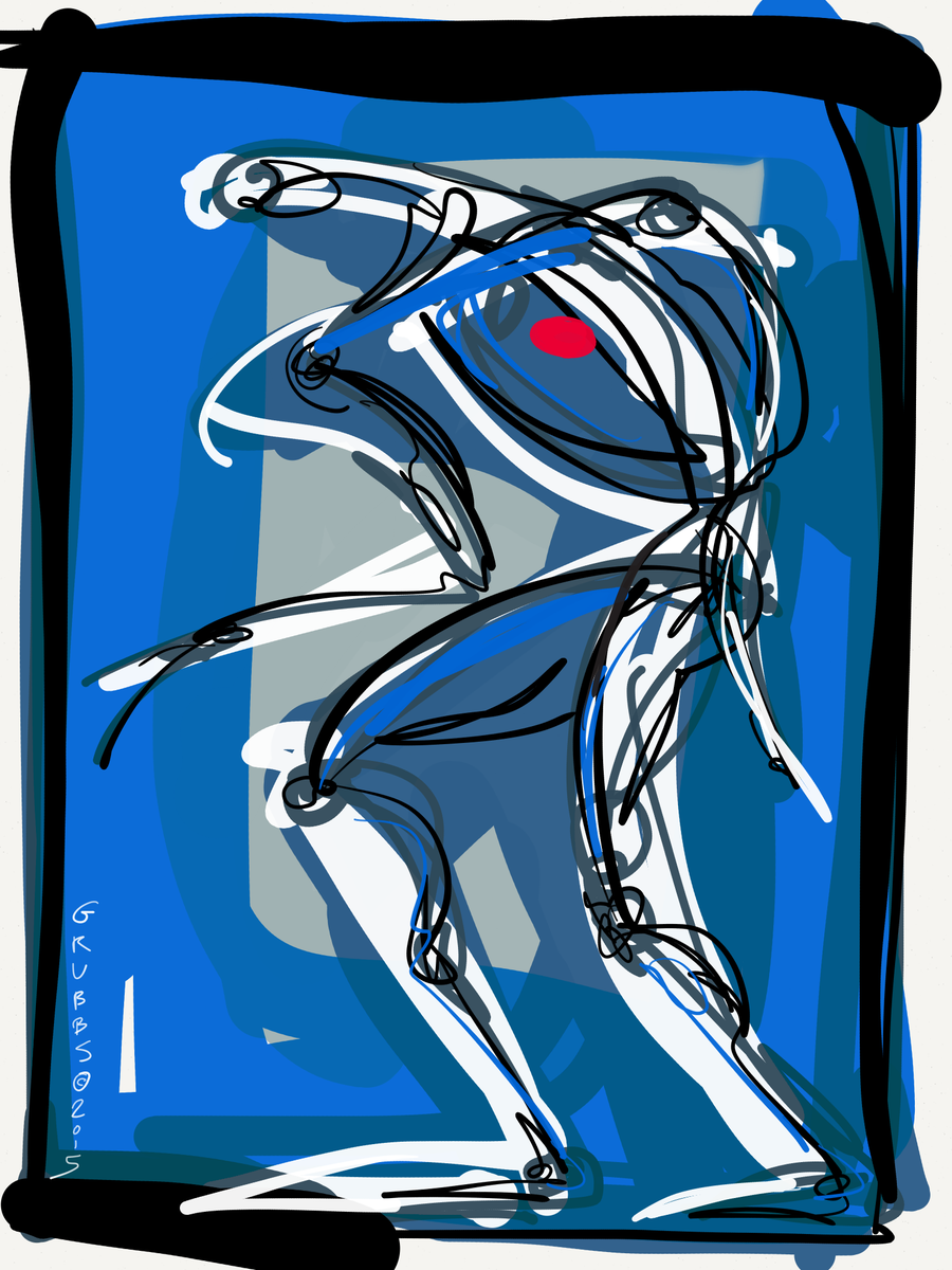 Blue Dancer, 2015 #FollowArt http://t.co/4tPdDKYsHl