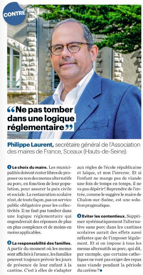 Menus dans les #cantines: @laurent_sceaux «ne veut pas tomber dans une logique réglementaire.» #UDI #LeParisienMag pic.twitter.com/Hguyr0hIN3