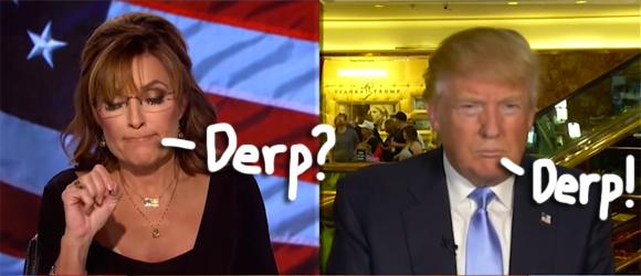 The crazy campaign continues! Watch #SarahPalin interview #DonaldTrump about media 'idiots': http://t.co/uiP6Ypw3rn http://t.co/kZUL2LETHw