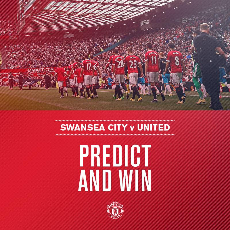 Who will start v Swansea? Correctly predict the #mufc XI here: http://bddy.me/1Kkq9DC . You could win a signed shirt!