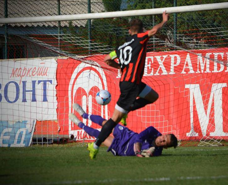Ferhan Hasani's first goal; photo: Shkendija