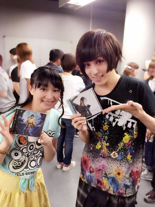 アニサマ2015記念写真♪ 超かっこいいけどフレンドリーだった蒼井翔太さんと今井麻美♪  #anisama #ミンゴス http://t.co/KMPkZ8sSsL
