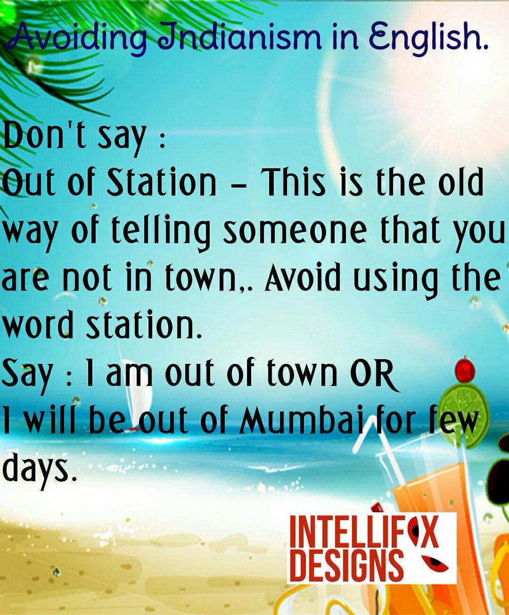 Intellifox Designs On Twitter Avoiding Indianism In English