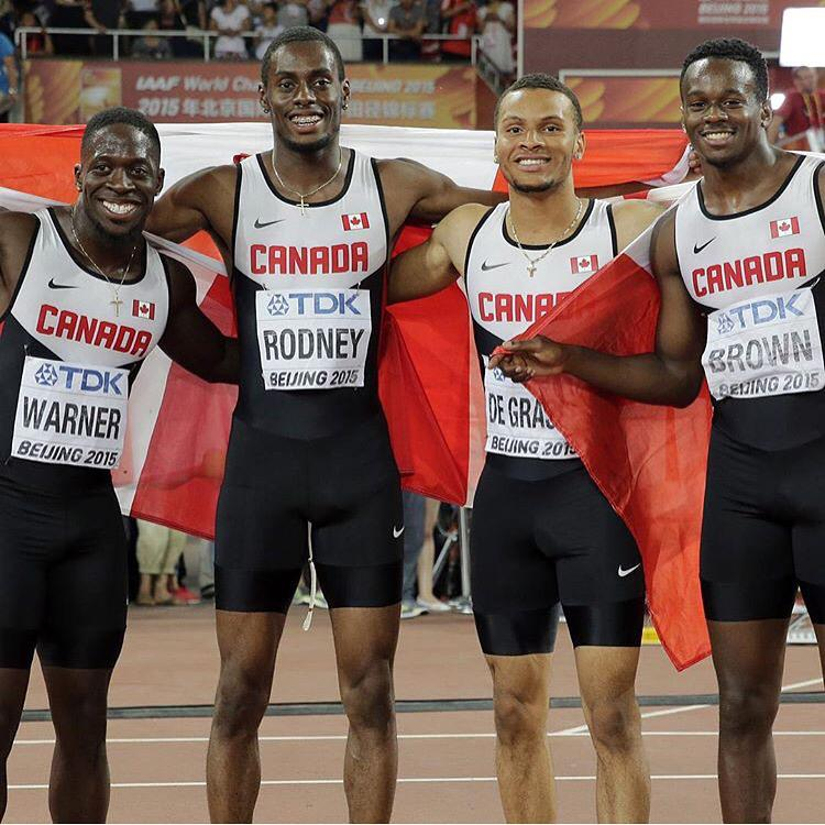 We did it again!! BRONZE baby!! #IAAF #worldchampsionships #beijing2015 #toGodbetheglory Next Step - #Rio2016 #the6ix http://t.co/LldfFVHW2e