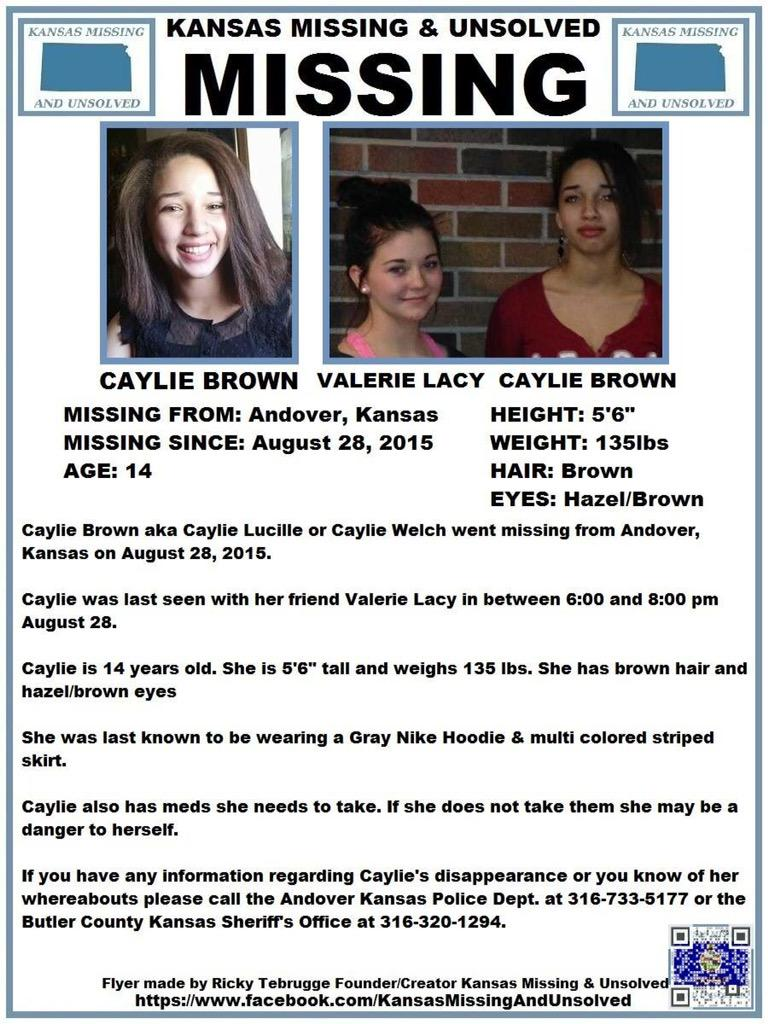 Kansas butler county andover - Ks Missing Unsolved On Twitter Please Rt Missing Caylie Brown Andover Ks Updated Http T Co Vymczcuwvn