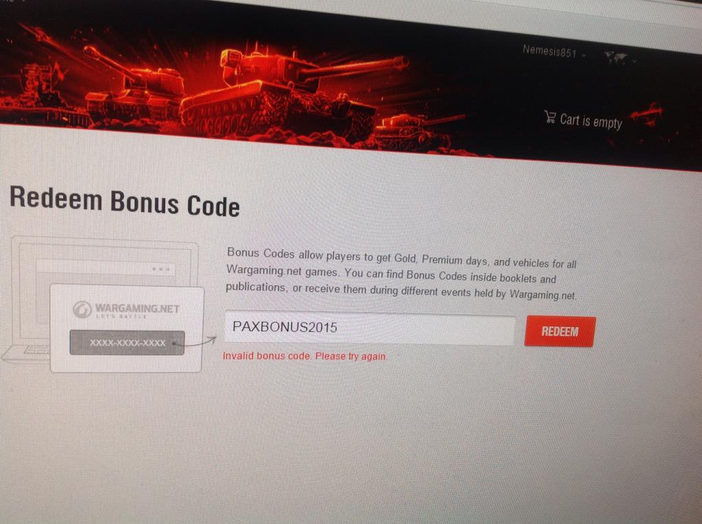 Wargaming Bonus Code Na