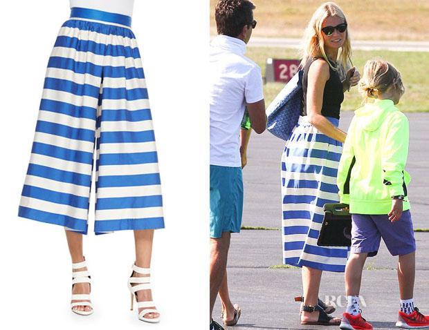 Gwyneth Paltrow's Alice + Olivia High-Waist Striped Pleated Culottes http://t.co/MsdHC1fNJ5 http://t.co/9KO3oDl3Kv