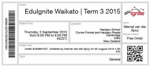 Thumbnail for EduIgnite - Waikato (3 September 2015)