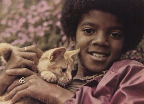 #MichaelJackson with his pet Ginger for #caturday @minimalhome #mt http://t.co/MYXtk6JgJ6