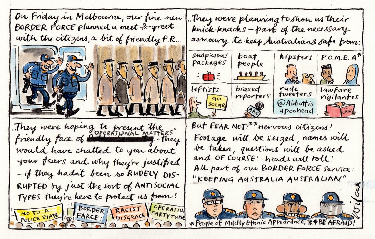 The Cathy Wilcox On Twitter Border Force Meet Greet Httpt