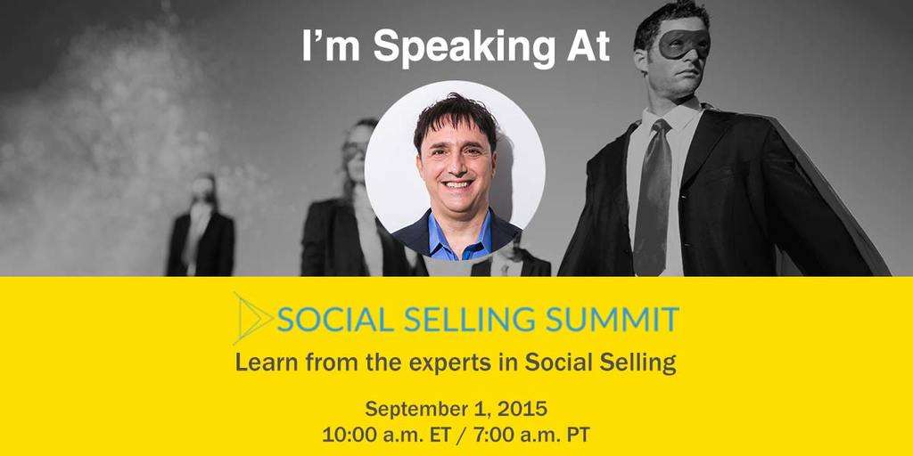 #SocialSelling is for real. Join me & 30 other experts in this free event to learn more. http://t.co/W15L44oli6 http://t.co/1r1eTLpufw