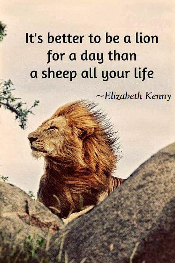 Inspirational Quotes On Twitter It S Better To Be A Lion For A Day