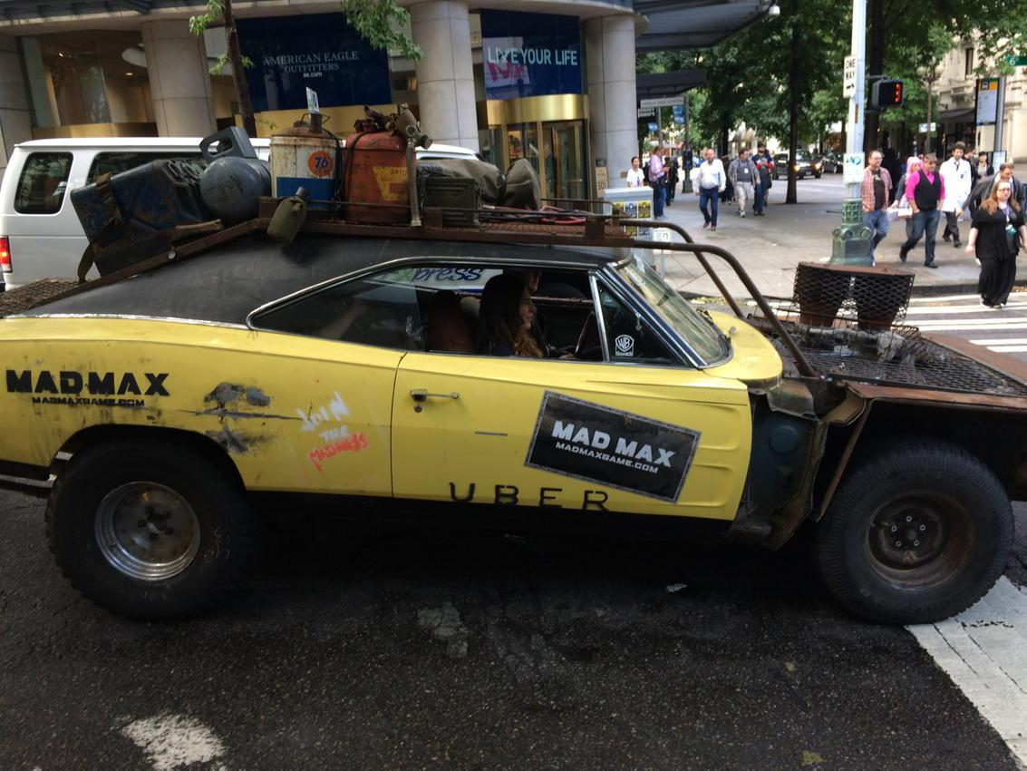 "Dude just yelled ""Witness me!"" as he hopped into his not-at-all dissonant Mad Max Uber at PAX. #brands http://t.co/Z6oMYWzRTh"