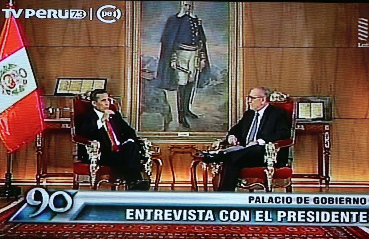 Thumbnail for Entrevista a Ollanta Humala, presidente de la República del Perú, por Augusto Álvarez Rodrich