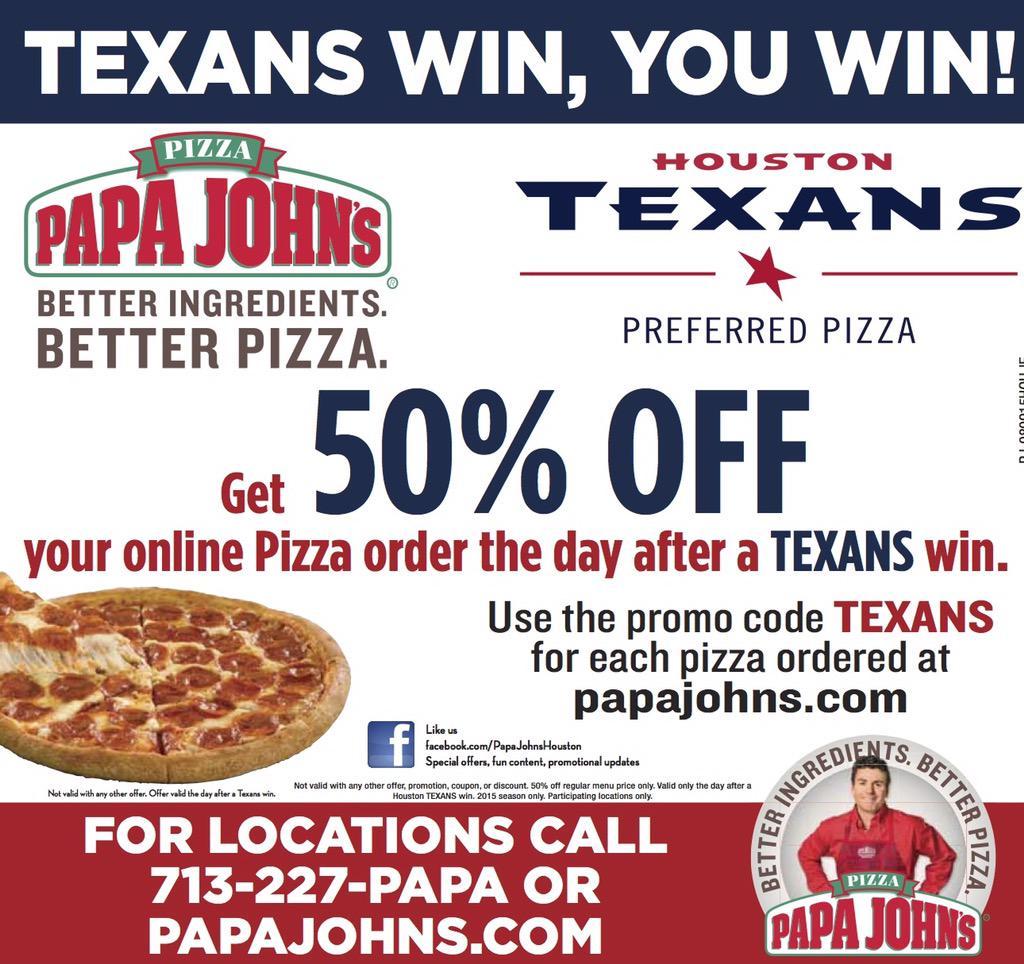 Papa John\'s Houston on Twitter: \