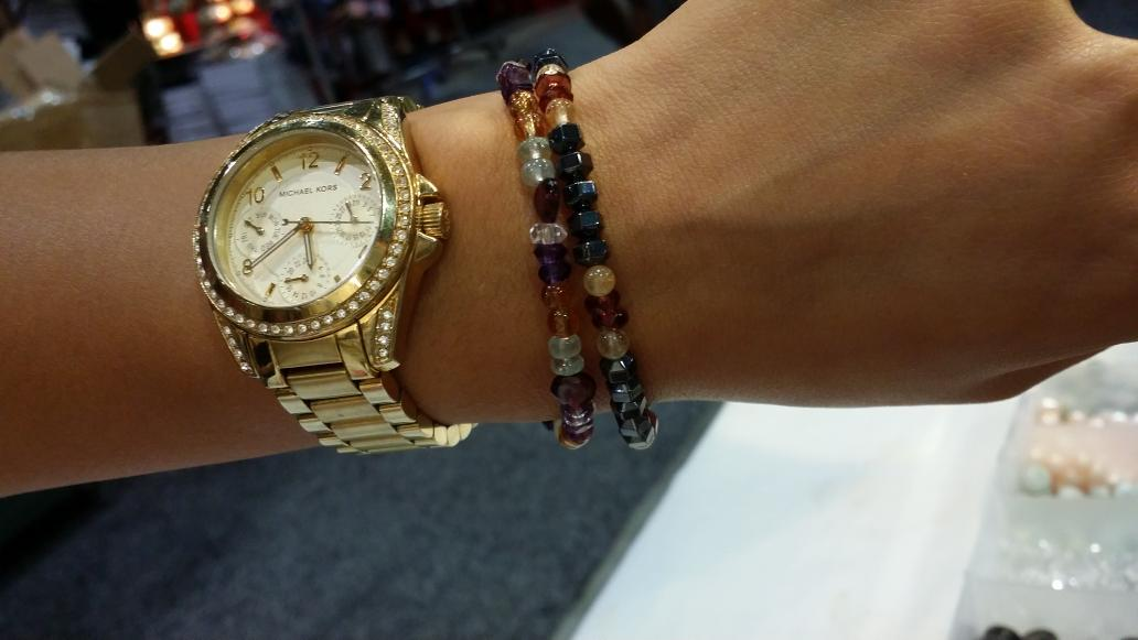 A colourful pair of bracelets made right here at the #CNE2015 ! Booth #3209 at the International Pavilion