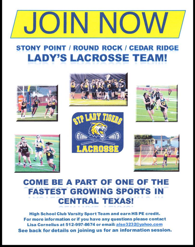 Information for girls interested in lacrosse in Round Rock.  #RRISD Hope to see you there!! #lax #lacrosse http://t.co/mKYjee0BXN