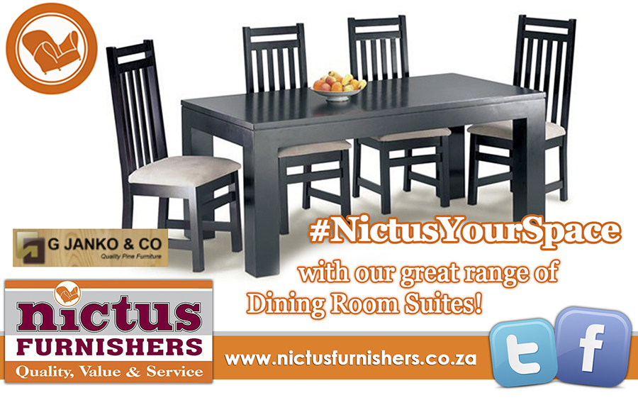 Nictus Furnishers On Twitter NictusYourSpace With Our Great Range Of Dining Room Suites Contact Us Today Tco RTu3UhD3PU VwW1aF96Qc