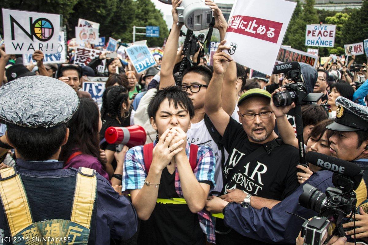 SEALDs、「若くてカッコいい」感を出すためイケメン高校生タクヤを常に一番前に立たせる作戦に