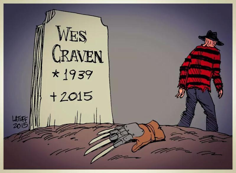 R.I.P. Wes Craven... #Horror #Master #FreddyKrueger #TheHillsHaveEyes #Scream