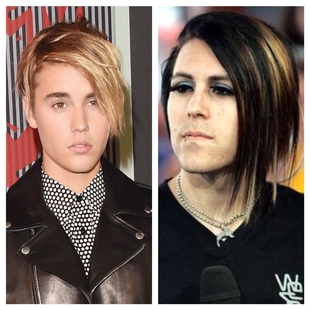 Haylee On Twitter Is It Just Me Or Does Justin Bieber S Hair Remind You Of Davey Havok From Afi Http T Co V0vy0eusct