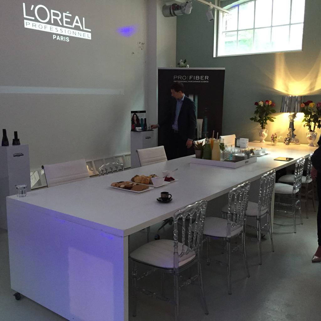 All ready for the launch of Profiber #damesvandale #loreal #beauty http://t.co/V5Z5REPUr3
