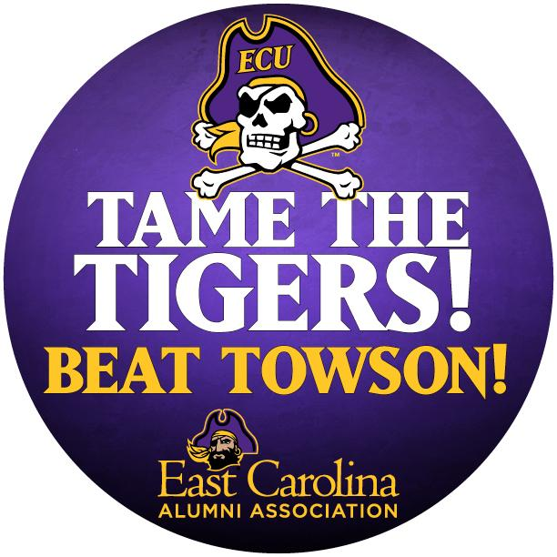 Show your Pirate Pride this week by sharing our virtual BEAT TOWSON button! #ECU #ARRRGH http://t.co/E4gCDJ9FfD