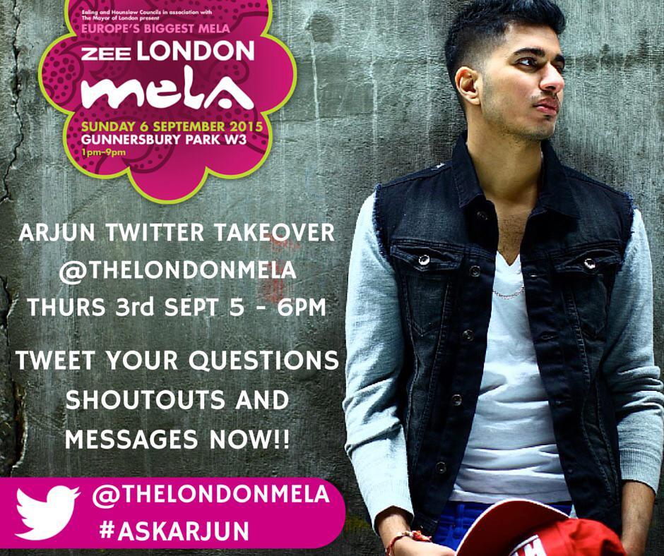 RT @TheLondonMela: We've got the lovely @ArjunArtist doing a #LondonMela #TwitterTakeover on Thurs - Tweet us your Q's at #ASKARJUN NOW! ht…
