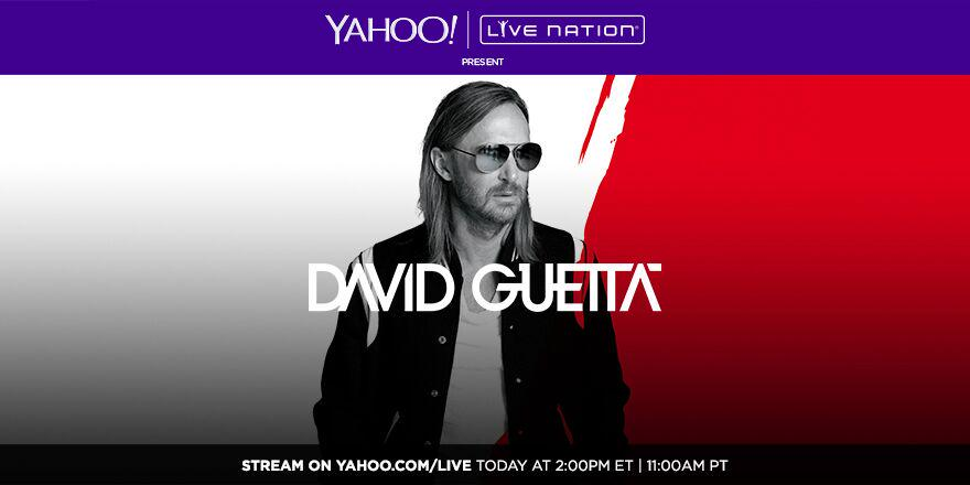 RT @YahooMusic: TODAY: Party in Ibiza with @davidguetta & @djafrojack LIVE at 2pm EST! http://t.co/o5L7LMpTHj #YahooLive #LiveNation http:/…