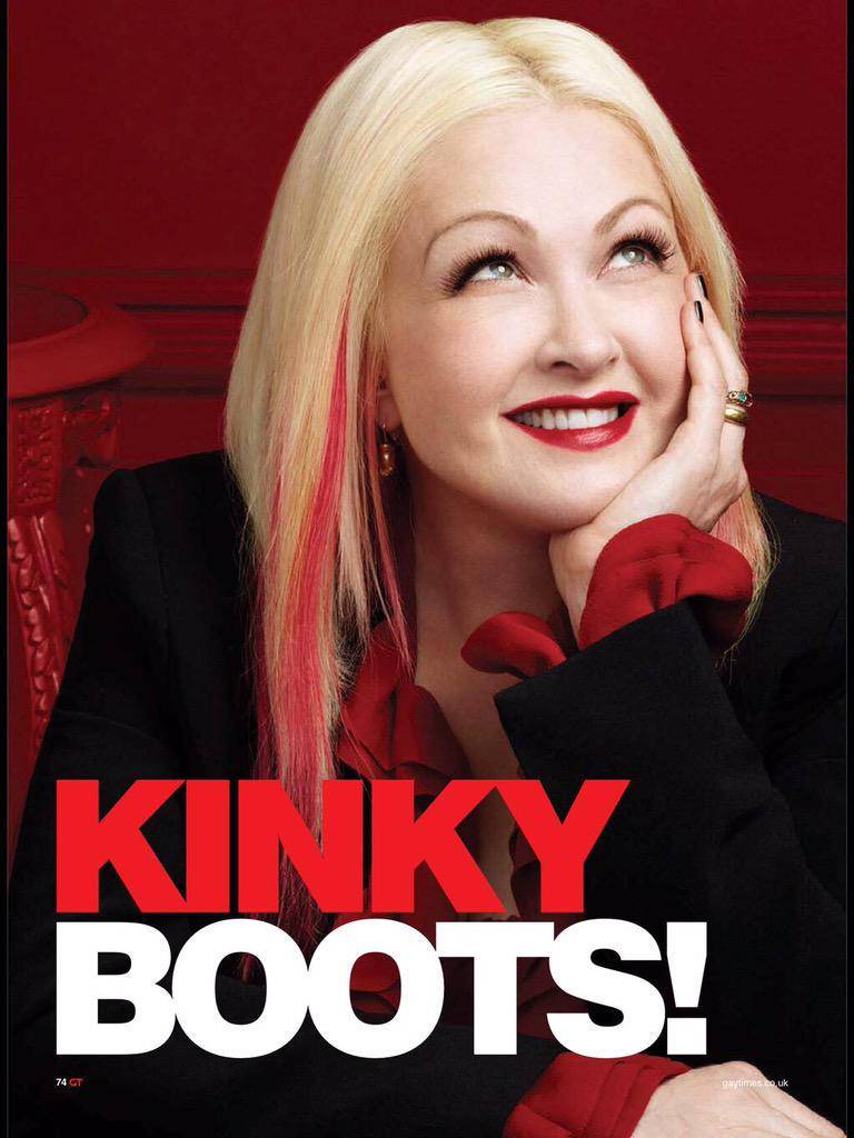 RT @GayTimesMag: .@cyndilauper struts into London with her new musical @KinkyBootsUK and tells us why the sex really is in the heel 👠 http:…