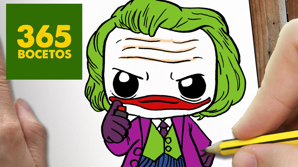 """365 BOCETOS On Twitter: """"No Te Pierdas Este Tutorial De Como Dibujar Al Joker, Al Estilo Kawaii"""