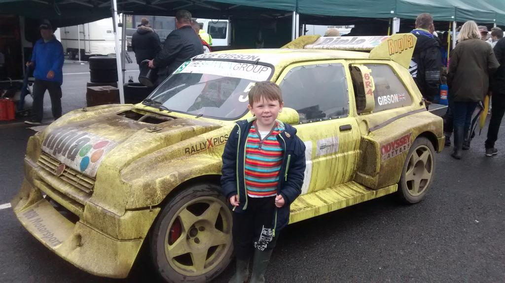 Had a great day @LyddenHill with my son even in the rain ..... Loved it all especially the historic @totalrallycross http://t.co/ktWz5g2QUs