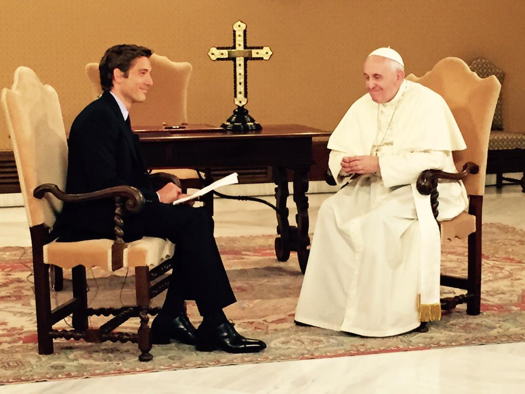 A true honor.  Our visit with Pope Francis @Pontifex on the eve of his historic visit to the U.S. http://t.co/3Dcq0xi81A