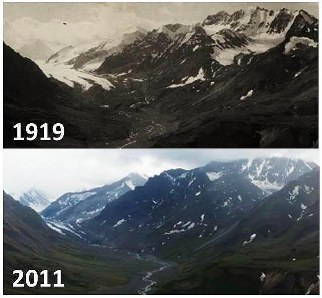 What do receding glaciers look like in Denali National Park? #GLACIER http://t.co/mEfOaciX83 http://t.co/UxGYZrE33R