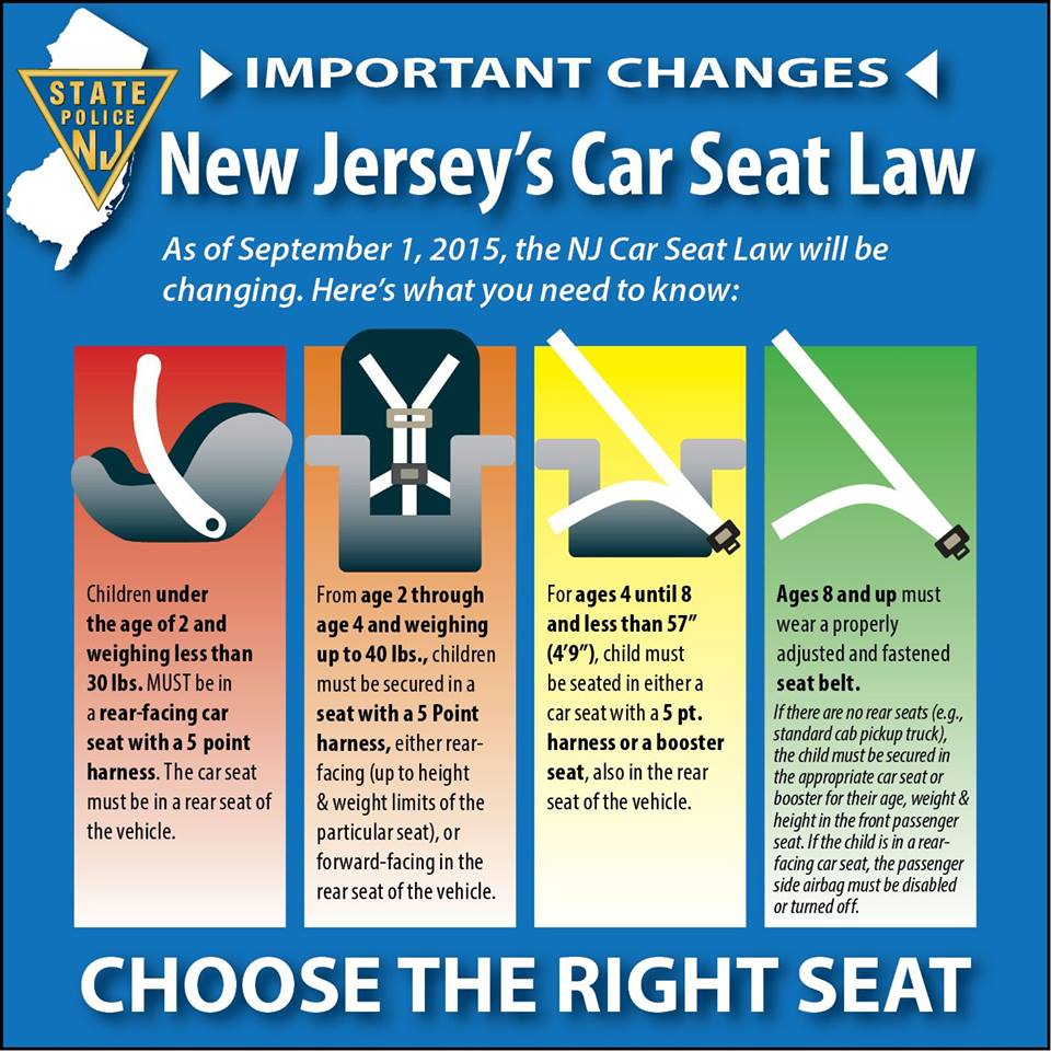 Washington Twp PD On Twitter Child Safety Seat Law Changes Tomorrow New Jerseys Car Laws Will Be Changing Heres What You Need To Know